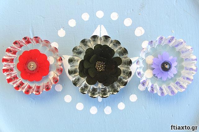 Λουλούδια quilling σε υγρό γυαλί 2