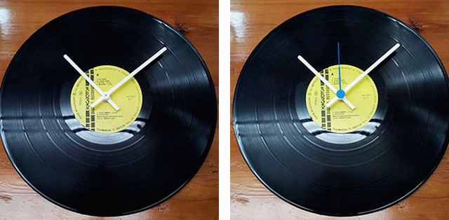 Ρολόι από δίσκο βινυλίου