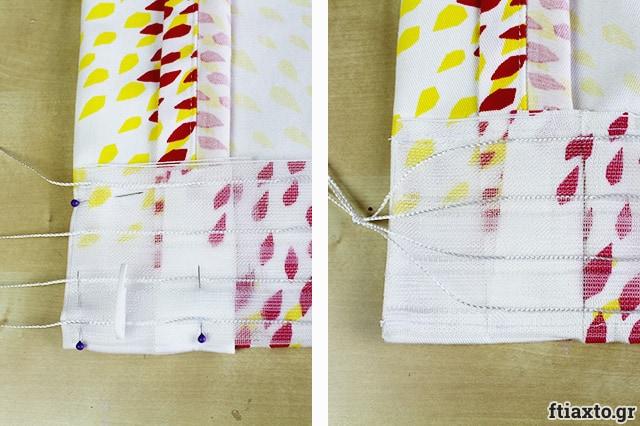 Προσθήκη κουρτινοθηλιάς σε κουρτίνα