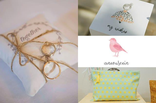 Manousenia: Χειροποίητα δώρα, διακοσμητικά, γάμος & βάφτιση