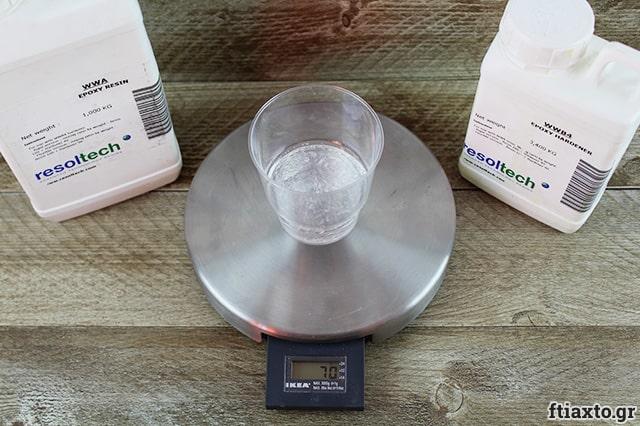 Υγρό γυαλί με φωσφωρίζουσα σκόνη