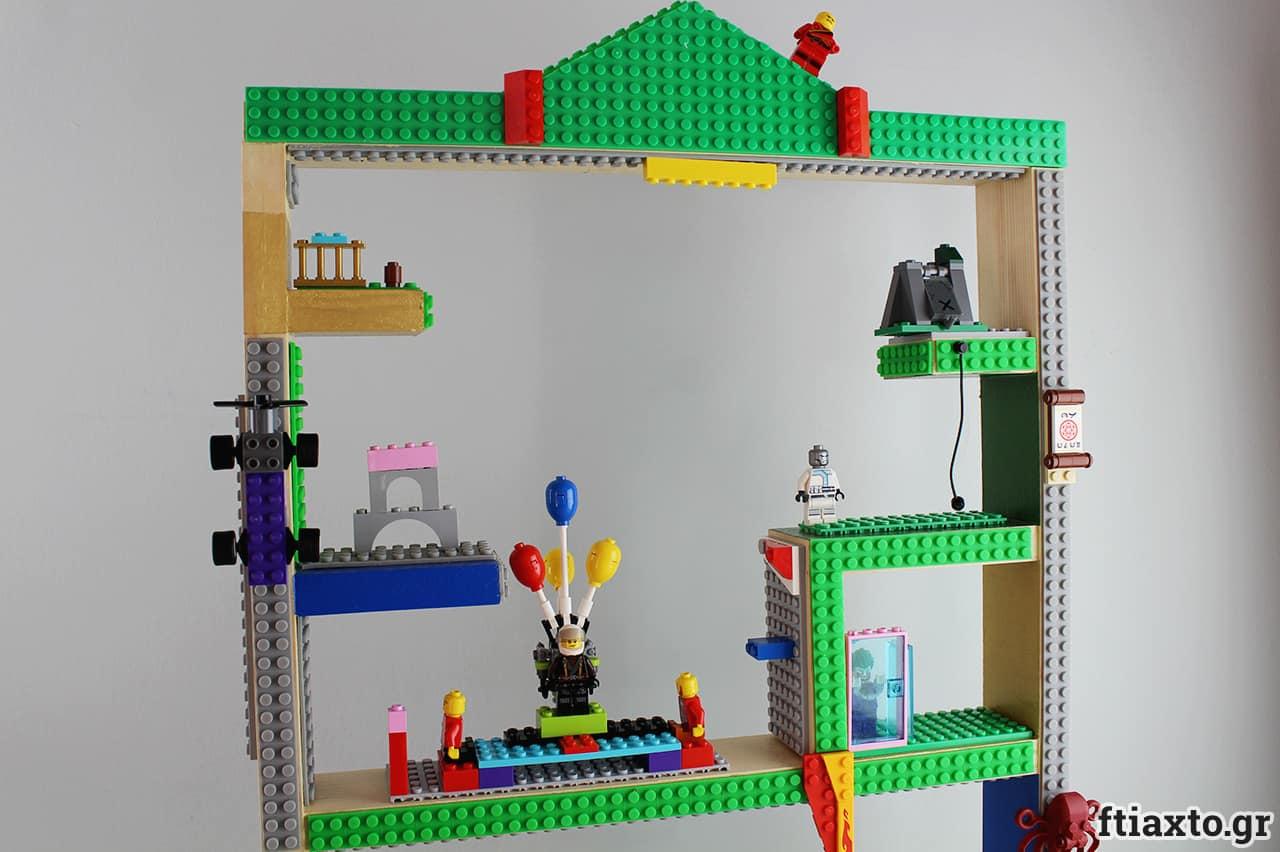 Ξύλινο ράφι για παιχνίδια lego 4