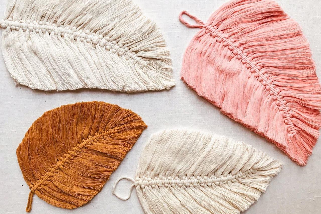 Διακοσμητικά φτερά με μακραμέ 6