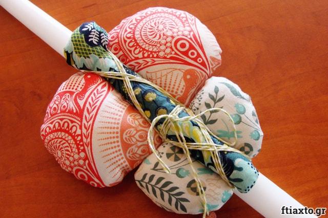 Ιδέες για χειροποίητες πασχαλινές λαμπάδες 9