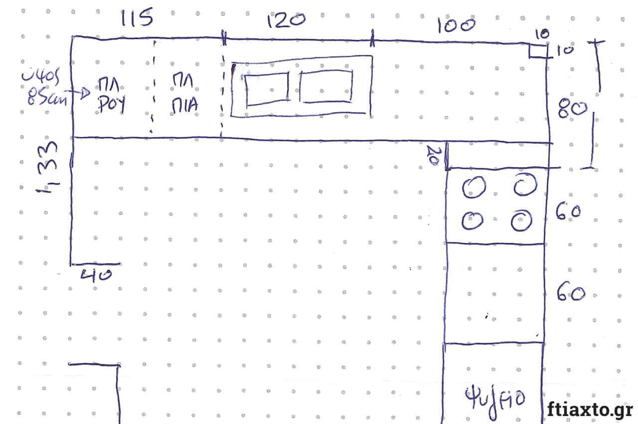 Τα πρώτα βήματα για τη μέτρηση και τον σχεδιασμό της κουζίνας σου 1