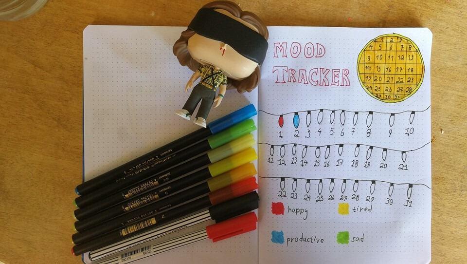 Mood tracker ιδέες για το bullet journal σου!