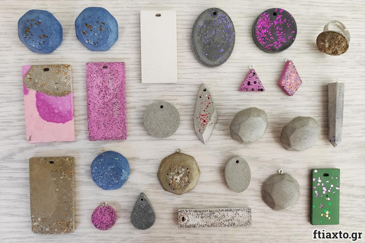 Κοσμήματα από τσιμέντο 9