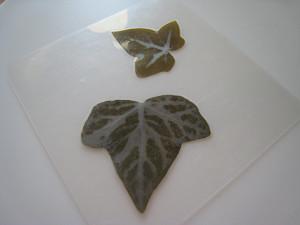 Σουβέρ/ Σουπλά με φθινοπωρινά φύλλα 3