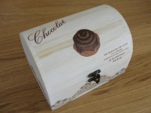 Ξύλινα κουτιά συνταγών με decoupage στο Star - Νηστικοί Πράκτορες 1